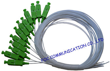 Simplex Fiber Optic Pigtail SC / APC  SM G.657A2 , Bend Insensitive For Telecom